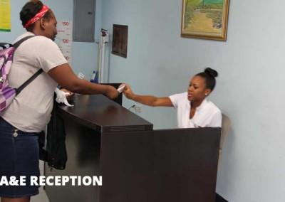 A&E reception
